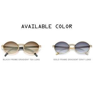 Image 5 - 2020 New High Quality Men Round Sunglasses Brand Designer Luxury Diamond Sumptuous Sun Glasses for Women Buffalo Horn Glasses