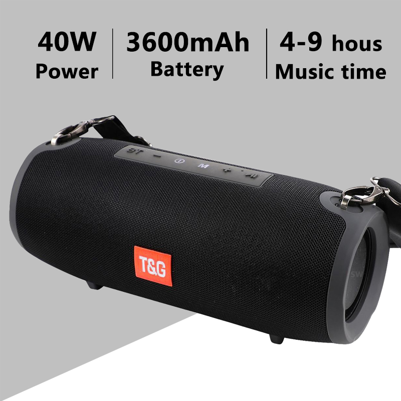 TG118 High Power 40W Bluetooth Speaker Waterproof Portable Column For PC Computer Speakers Subwoofer Boom box Music Center Radio(China)