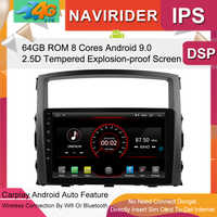 Gebaut in 4G Lte auto Intelligente navigation band recorder 9,0 android auto gps radio multimedia player für mitsubishi PAJERO 2012