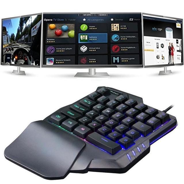 35 Keys Usb Gaming Keyboard pc gamer completo One-Handed Mechanical Keyboard Left Hand Game Keypad For LOL/PUBG/ Fortnite