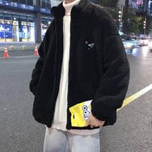 Biggorange lã de cordeiro zip up hoodies feminino inverno casal roupas mais veludo grosso cordeiro jaqueta estilo lã moletom feminino