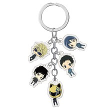 New Fashion Anime Durarara!! 3way Standoff Keychain Cartoon Figures DRRR Orihara Izaya Key Ring(China)