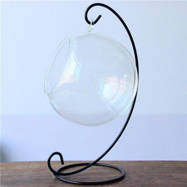 Hanging Holder Crystal Ball Terrarium Vase Iron Pothook Stand Home Decoration Holder Iron Decoration Holder Stand 3