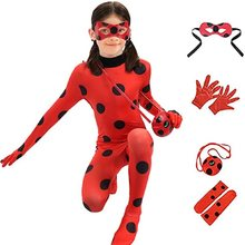 Kids Girls Red Cosplay Costume Outlet - Child Size Ladybird Dress Up Children Halloween Suit