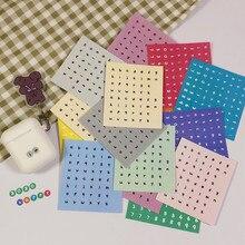 Autocollant de combinaison de chiffres Alphabet anglais 6 couleurs, autocollant de matériel de décoration pour compte à main, papeterie pour enfants
