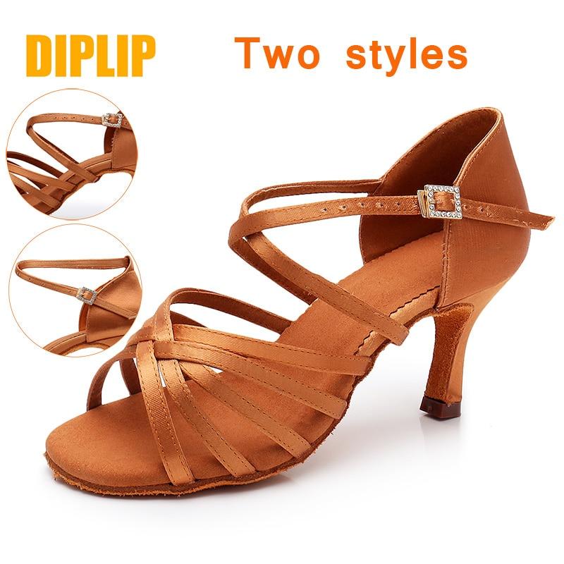 Image 5 - DIPLIP New Hot Latin Dance Shoes Womens High Heel Dance Shoes Tango Soft Bottom Dance Shoes 5 / 7cm Girls Salsa Ballroom ShoesDance shoes   -