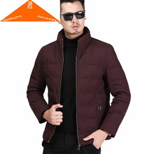 Jacket Men Winter Thick Warm White Duck Down Coat Male Business Casual Casaco Fashion Mens Cloth Outwear Hiver 9222(China)