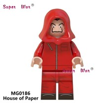 Single House of Paper Popular DJ Marshmellow Queen Leader Singer Kiss Band building blocks toys for children(China)