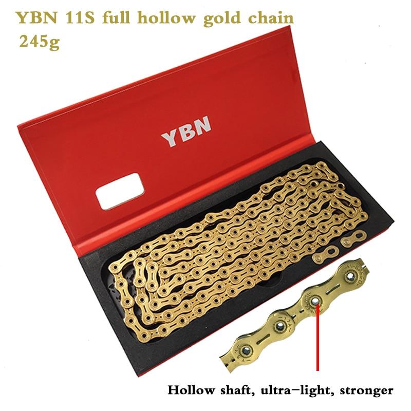 YBN 11 Speed Chain Gold MTB Road Bike Chain for Shimano Sram Campagnolo