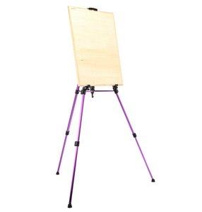 Image 3 - Renkli şövale sanat seti alüminyum alaşım katlanır boyama şövale çerçeve sanatçı ayarlanabilir Tripod sergileme rafı açık