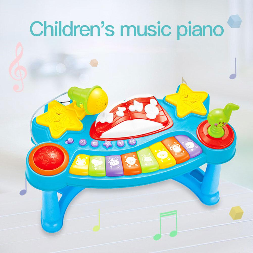 RCtown Music Toy Boys Girls Musical Learning Table Kids Early Education Study Desk Toddler Gift Parent-child Interactive Machine image