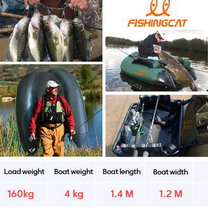 Image 5 - 1 person fishing boat double airbag safety easy to carry rubber boat professional Luya inflatable fishing boat by FISHINGCAT