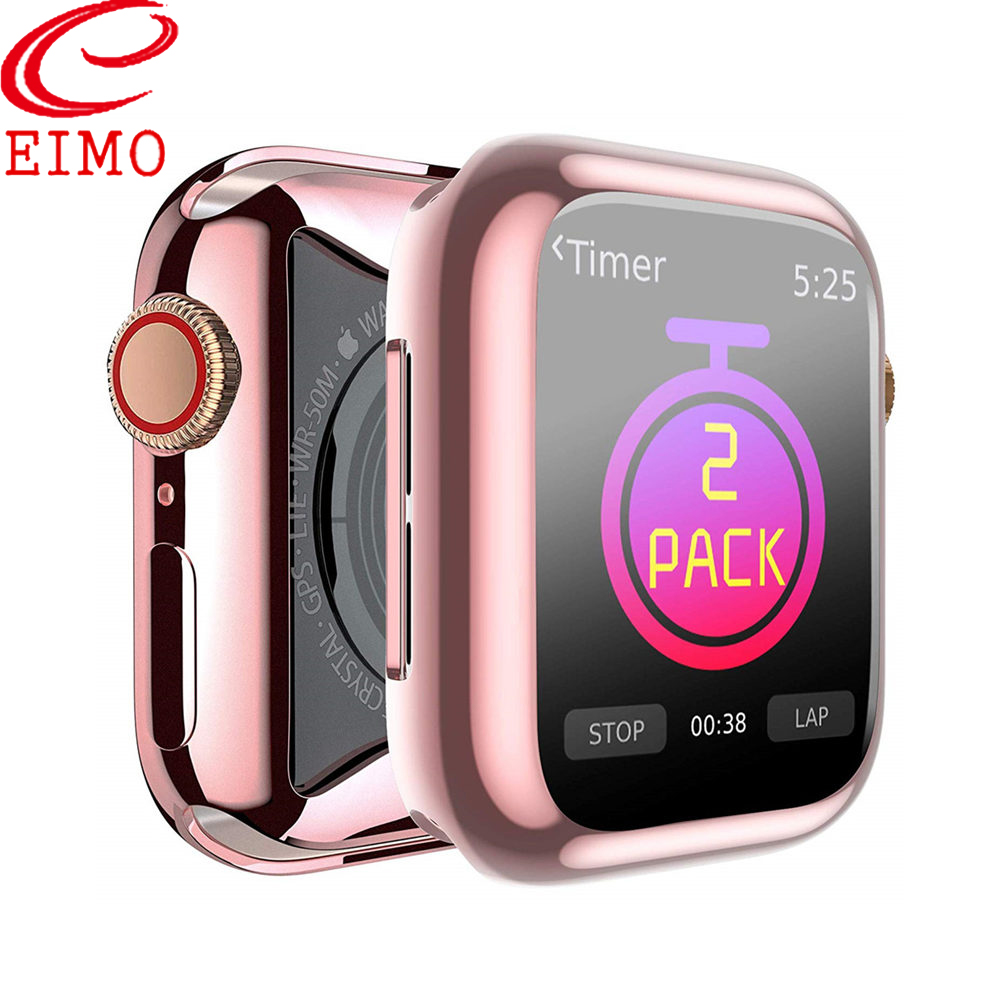 Screen protector cover For <font><b>Apple</b></font> <font><b>Watch</b></font> case 5 4 44mm/40mm iWatch case 42mm/38mm Soft TPU bumper <font><b>apple</b></font> <font><b>watch</b></font> <font><b>3</b></font> 2 1 40 44 42 <font><b>38</b></font> mm image