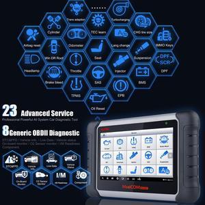 Image 2 - Herramienta de escaneo diagnóstico de coche, dispositivo con todos los sistemas y 21 servicios, IMMO, restablece el aceite, EPB, BMS, SAS, DPF, ABS, Autel MaxiCOM MK808BT