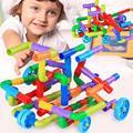 DIY водопровод, строительные блоки, игрушки для детей, дети туннель образовательное строительство стволовых дизайнерские игрушки кирпич для...