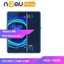 Nomu M8 IP68 Waterdichte Smartphone 4GB + 64GB OTG + NFC Mobiele Telefoon MTK6750T Octa Core 5.2'' 21MP + 21MP Selfie Softlight mobiel(China)