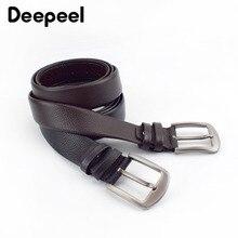 Deepeel 1pc 110 130cm primeira camada de couro cinto masculino designer cintos com zíper novidade decoração de luxo cós pode colocar dinheiro