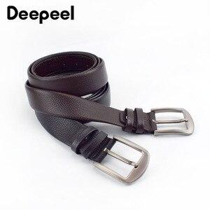 Image 1 - Deepeel 1pc 110 130cm שכבה הראשונה עור פרה גברים חגורת זכר מעצב רוכסן חגורות חידוש יוקרה קישוט החגורה יכול לשים כסף