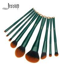 Набор кистей для макияжа jessup 9 из синтетической щетиной трекинга
