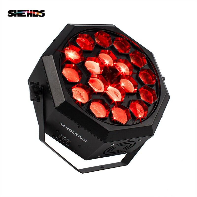 SHEHDS Free Shipping Led Par Bee Eye 18x12W RGBW Lighting  Stage Beam Light Professional DJ Disco Stage Lights