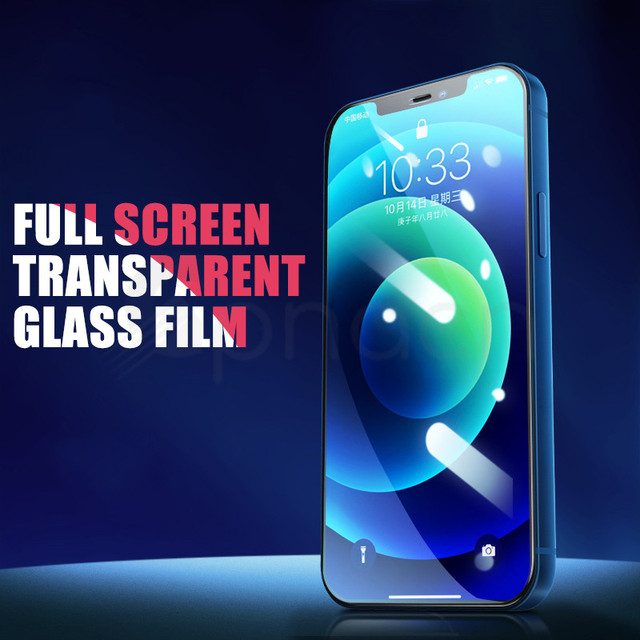 9H Tempered Protective Glass For iPhone 11 12 Pro XR X XS Max Screen Protector Film on iPhone 7 6 8 6s Plus 5 5S SE 2020 Glass 2