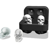 3D Large Skull Bar Form Whiskey Tools Wine Chocolate Tray Party Pudding Ice for ice Silicone Kitchen Cream Mold