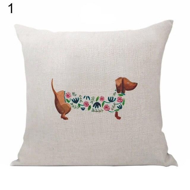Sausage Dog Pillow Throw 3