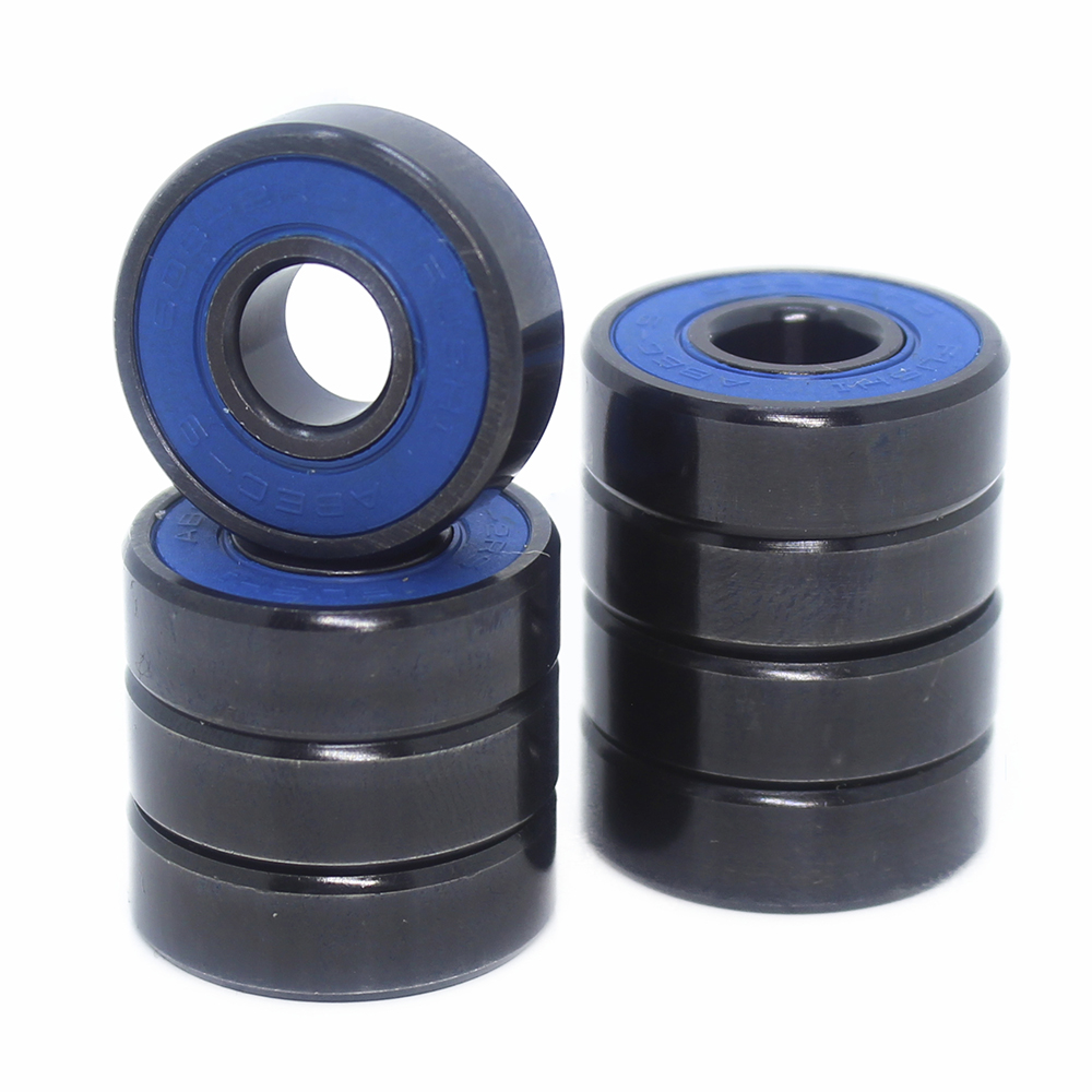 Skateboard 608-Black Bearings 8x22x7mm ( 10 PCS ) ABEC-9 608 V RS Surface Black PA66 Cage 608 Ball Bearing image