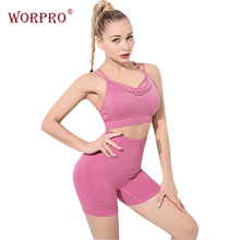 two piece gym shorts set women energy seamless short strappy sports bra high waist workout womens active wear sets