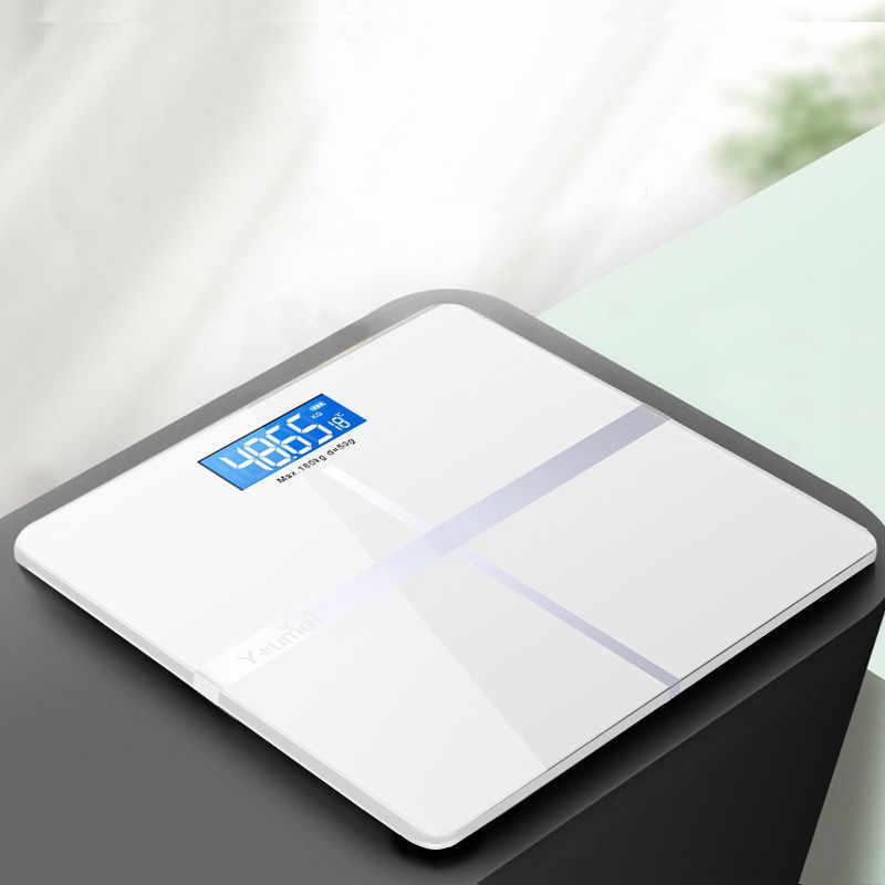 Bluetooth-Timbangan Lantai Tubuh Lemak Skala Smart Elektronik Layar Backlit LED Berat Badan Digital Timbangan Kamar Mandi Keseimbangan Bmi