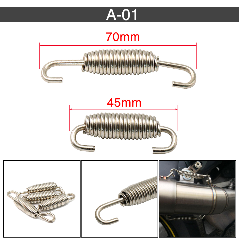 EXHAUST SPRING STAINLESS STEEL 55MM SCOOTER MOTORCYCLE MANIFOL EXPANSION CHAMBER