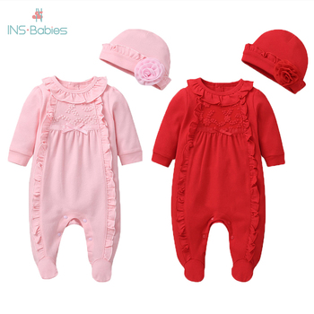 2020 Baby Girl Romper 3-18M Autumn Newborn Baby Clothes For Girls Long Sleeve pink baby Clothes for girls 2 pcs Jumpsuit outfits baby girl rompers 0 2y summer autumn newborn baby clothes for girls long sleeve kids boys jumpsuit baby girls outfits clothes
