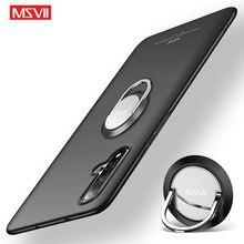 Voor Huawei Nova 5 Pro Case Msvii Matte Pc Cover Voor Huawei Nova 5i Pro Ring Houder Cover Voor Huawei nova 5T 5Z Nova5 Pro Gevallen