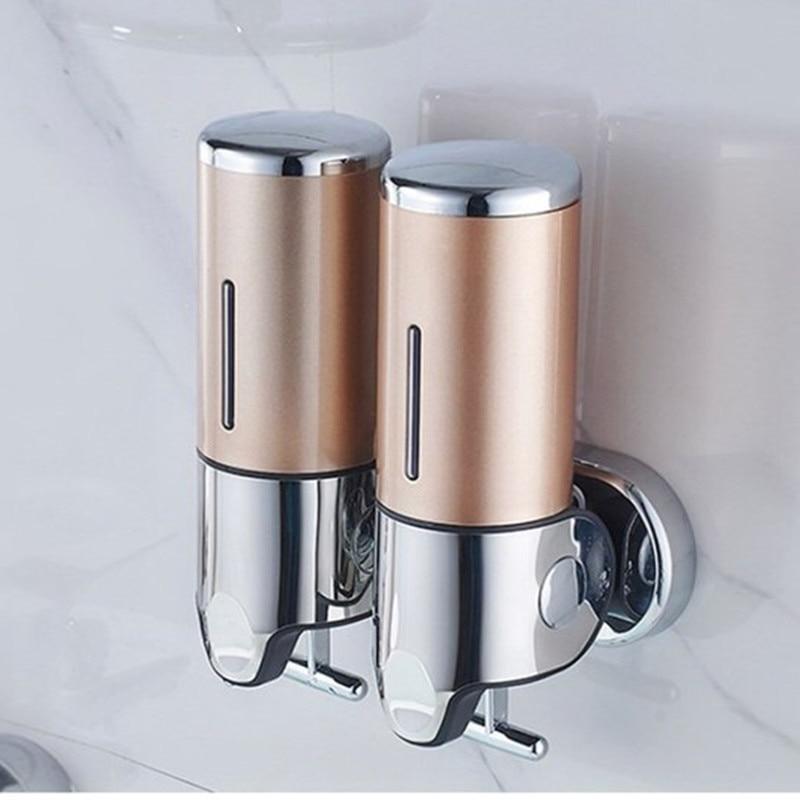 H89720de8eeea4b9bbfc218d4fcfa0a2eY LIUYUE Liquid Soap Dispenser 500 ml Bathroom Wall Mounted Plastic Shampoo Liquid Dispenser Hand Wash Kitchen Accessories