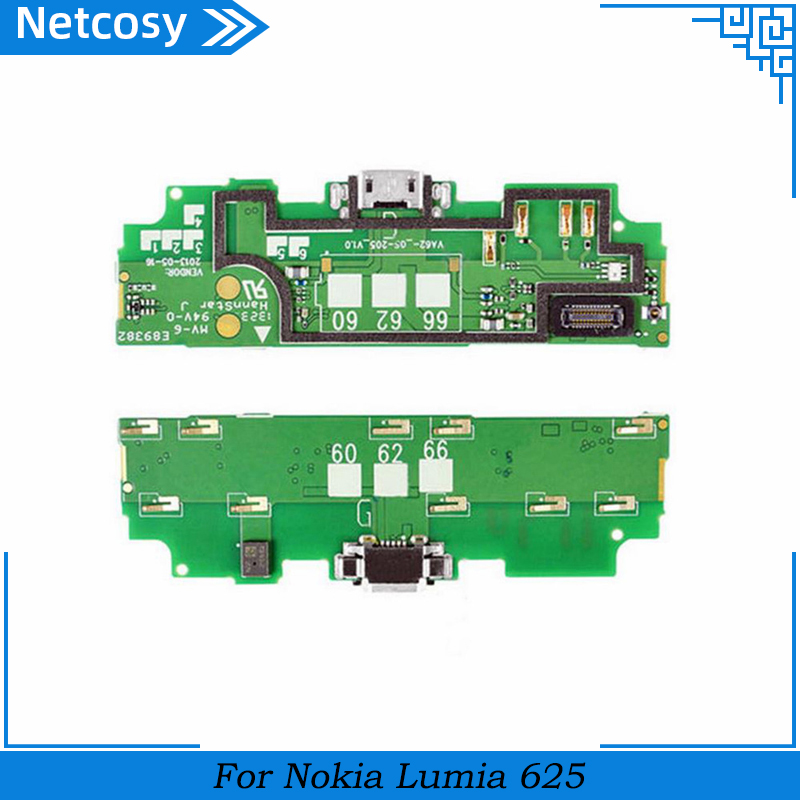 Netcosy For <font><b>Nokia</b></font> <font><b>Lumia</b></font> <font><b>625</b></font> Data <font><b>Usb</b></font> <font><b>Charging</b></font> <font><b>Port</b></font> Connector Flex Cable For Microsoft <font><b>Lumia</b></font> <font><b>625</b></font> <font><b>USB</b></font> Charger Dock Board image