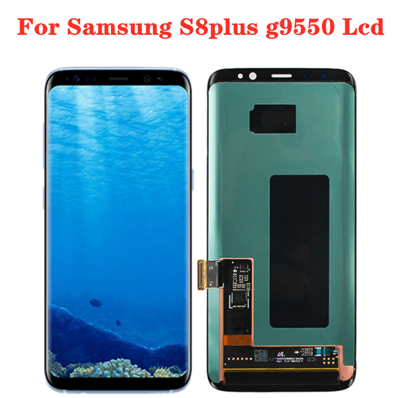 Original Super Amoled S8+ LCD With Frame For SAMSUNG Galaxy S8 Plus G955 G955F Touch Screen Replacement