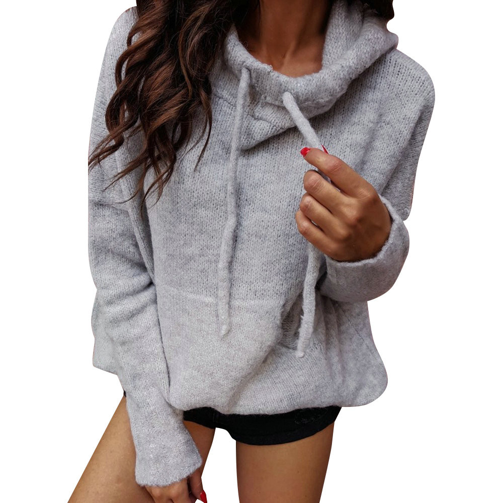 Autumn Winter Fashion Solid color Harajuku Hoodies Thick Loose Women Hoodies Sweatshirts Female Casual Hooded Pullover #B