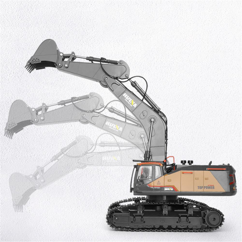 2020 New Item HuiNa 1:14 1592 RC Alloy Excavator 22CH Big Rc Trucks Simulation Excavator Remote Control Vehicle Toys for Boys - 4