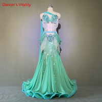 Belly Dance Custom Performance Clothes Female Child Temperament Bra Set Woman High Waist Big Swing Skirt Competition Clothing