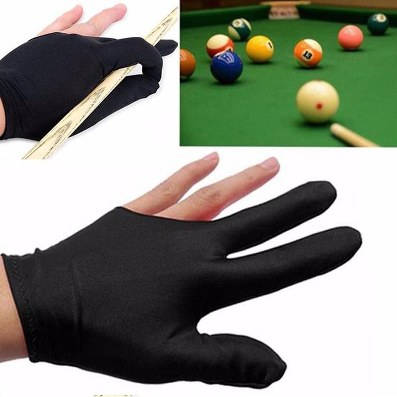 1pcs Lycra Fabric Spandex Snooker Billiard Cue Glove Pool Three Finger Accessory