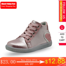 Apakowa Botines a la moda para niñas, botas infantiles Bling Martin, zapatos informales para fiesta escolar, regalo para niña pequeña