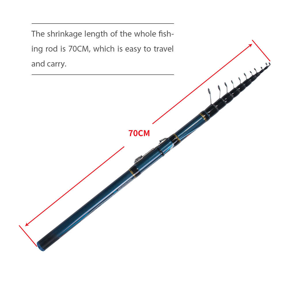 Mifine Concurrerende Telescopische Bolo Hengel 4/4.5/5/6M Hoge Carbon Forel Reizen Ultra Light Spinning Float Vissen 10-30G