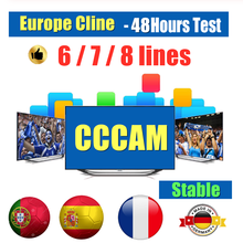 Stable 6/7/8 Control panel Cccam cline Spain/Poland/Portugal/Germany Oscam used in DVB-S2 satellite receiver full hdNewest