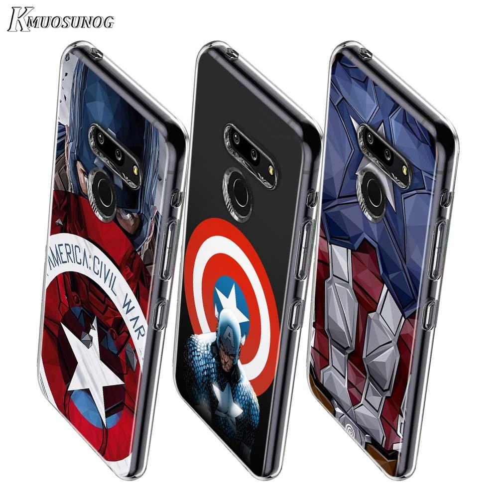 America Captain Avengers Style For LG W20 W10 V50S V50 V40 V30 K50S K40S K30 K20 Q60 Q8 Q7 Q6 G8 G7 G6 Thinq Phone Case