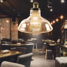 AC 85-265V Simple Vintage Industrial Style Glass Shade LED Ceiling Light For Dining Room Bar Living Room vintage classical european hand painted glass led e27 pendant light for dining room bar aisle 23cm 80 265v 2048
