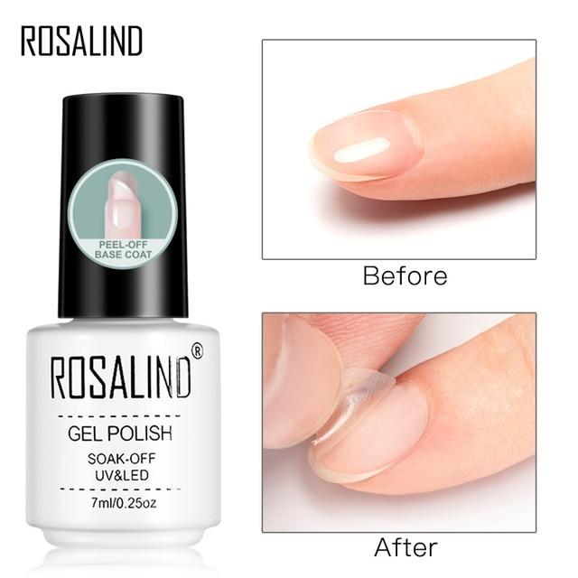 ROSALIND Base Top Primer Matt Gel Nail Polish Semi Permanent Nail Art Foundation Gel Reinforce No Wipe Gel Long Lasting Lacquer 2