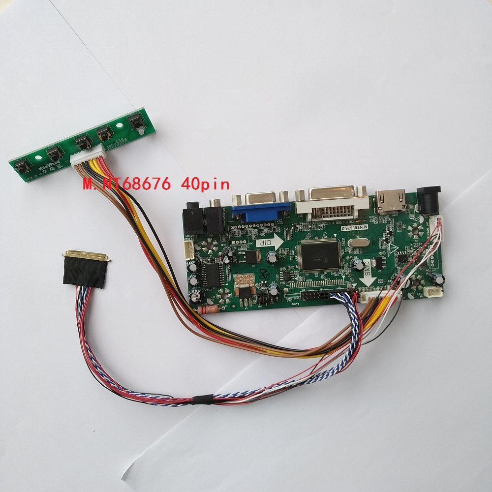 M.NT68676 LVDS DVI VGA LED HDMI Audio Controller board driver for LP156WH2(TL)(D1)/(TL)(D2) 1366*768 cable card monitor|Laptop Repair Components| |  - title=