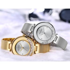Image 5 - MINI FOCUS Women Watches Luxury Brand Fashion Casual Ladies Watch Dress Quartz Rhinestone WristWatch For Womens Blue Clock