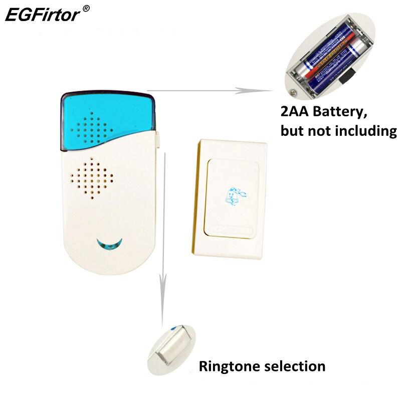 Wireless Doorbell Gate Alarm Doorbell Stable Sensitivity Smart Home Battery Chime Doorbell Intercom System 12 Tune Songs