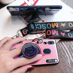 Image 4 - 화웨이 P 스마트 블루 라이트 케이스 2019 Y7 2019 Y6 2019 P30 P20 라이트 프로 노바 4e 3 3i 커버 카메라 스트랩